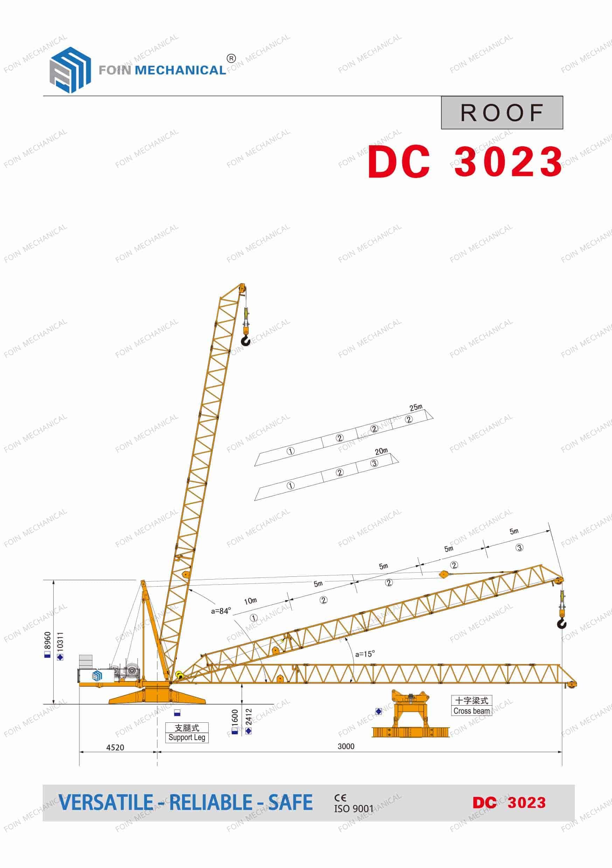 catalogue danh mục của cẩu derrick/mini DC3023-10 Tấn