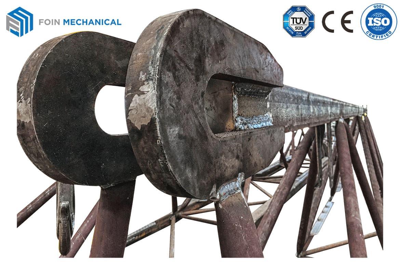 Bộ phận kết cấu thép của tay cần cẩu tháp hoàn thiện sau khi hàn