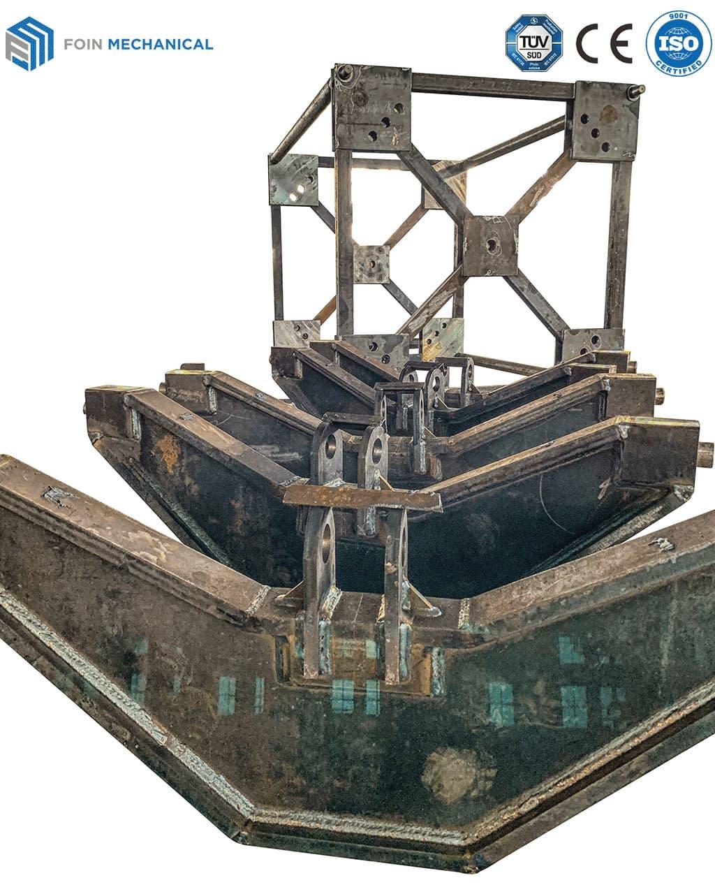 Bộ phận kết cấu thép của cẩu tháp hoàn thiện sau khi hàn