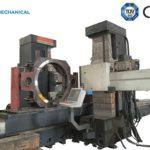 Các bộ phận của cần trục tháp được gia công bằng máy CNC