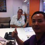 cẩu tháp Foin thăm khách hàng Úc